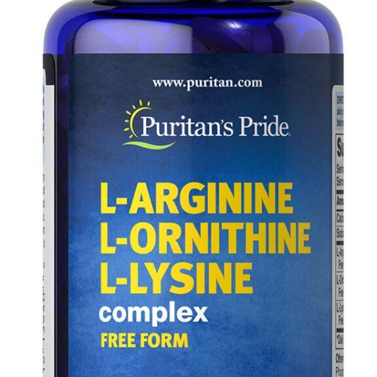 L-Arginin,L-Ornithine,L-Lysine Tri-Amino 60db.