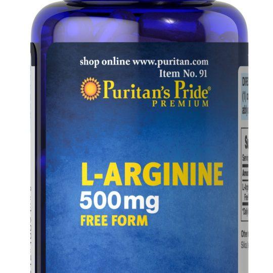 L-Arginine 500 mg 100 kapszula