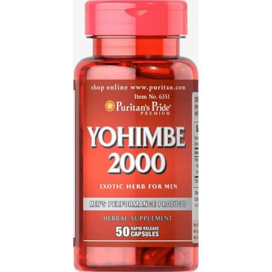 Yohimbe 2,000 mg (2 g), 50db.