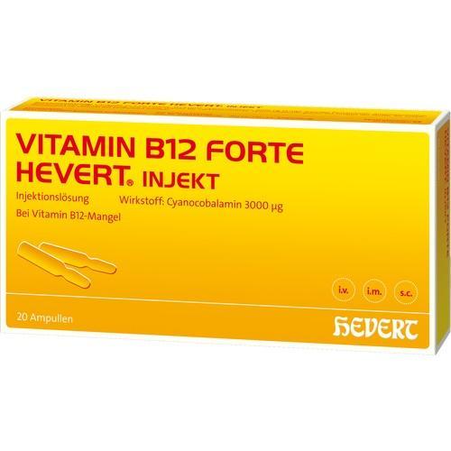 B12 Forte Hevert injekció 3 mg , 50 ampulla