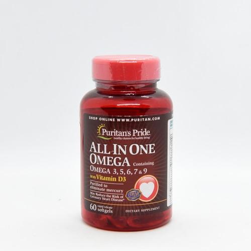 Omega 3, 5, 6, 7, 9 Plusz Vitamin D3 60db.