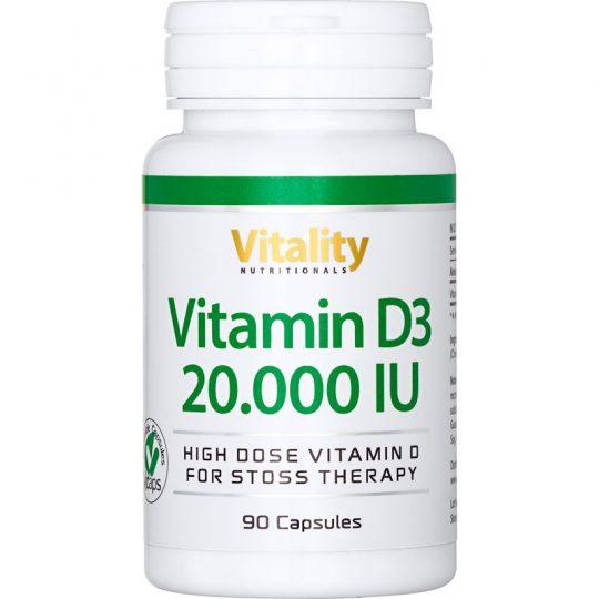 Vitamin D3 20000 IE, 90